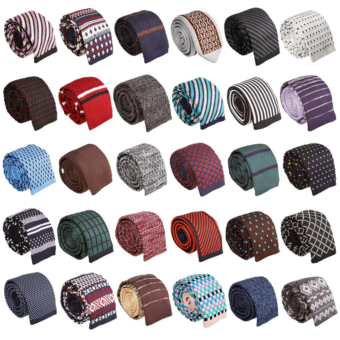 Men s Knit Tie Pattern : BMC Stylish 3pc Mixed Pattern Mens Fashion Knitted Neck Tie Accessory Set