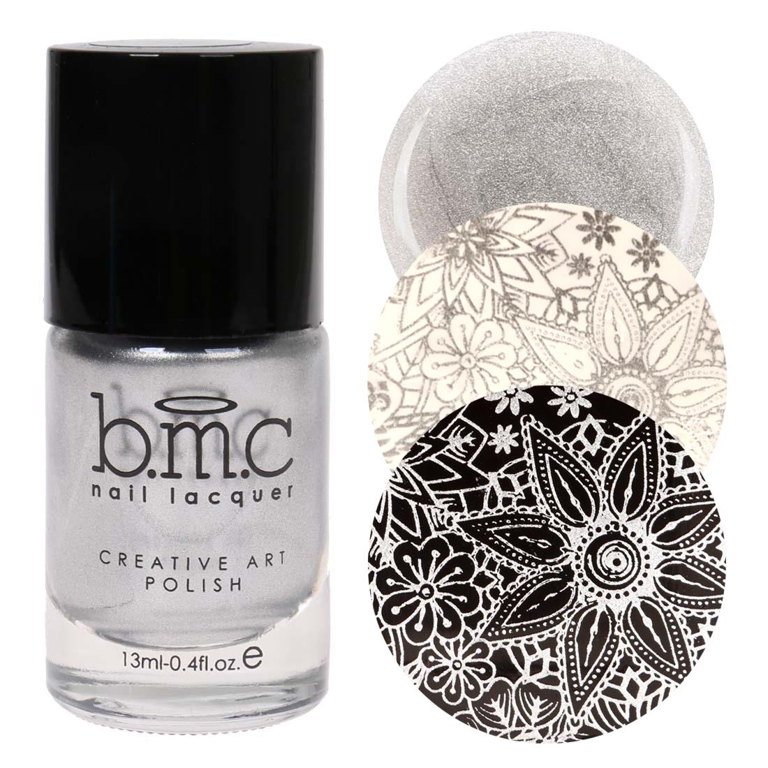 BMC metálico brillo creativo para Uñas Stamping pulimentos-libertad ...