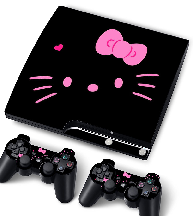 Bundle Monster Vinyl Skin Sticker Decal for Sony PlayStation PS3 S SLIM -  Kitty at Sears.com