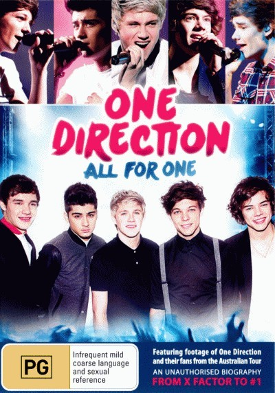 One Direction: All For One (An Unauthorised Biography)<BR>NEW DVD Movie