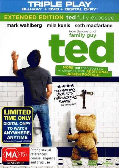 TED-BLU-RAY-DVD-DIGITAL-COPY-3-DISCS-New-Movie-BLR-R4-Joel-McHale