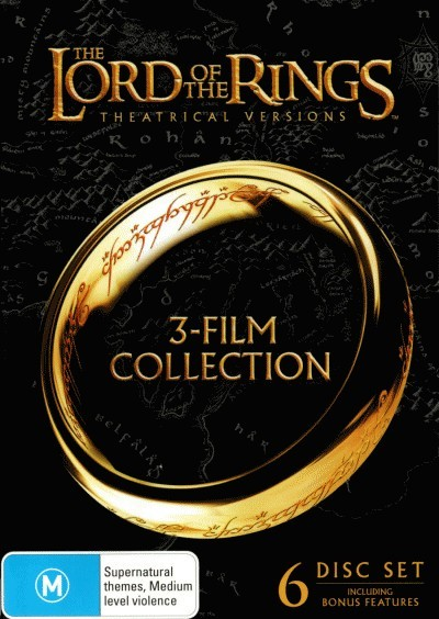 The Lord of the Rings Trilogy (Theatrical Versions) (6 Discs)<BR>NEW DVD Movie