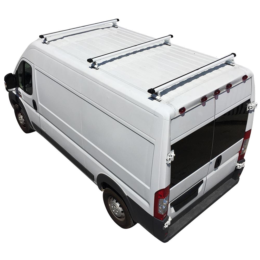Image Is Loading White Aluminum H3 3 Bar Cargo Van Ladder