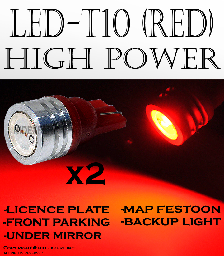 JDM pair T10 high power RED LED BRAKE LAMPS BULBS 193 194 2921 2825 655A5051