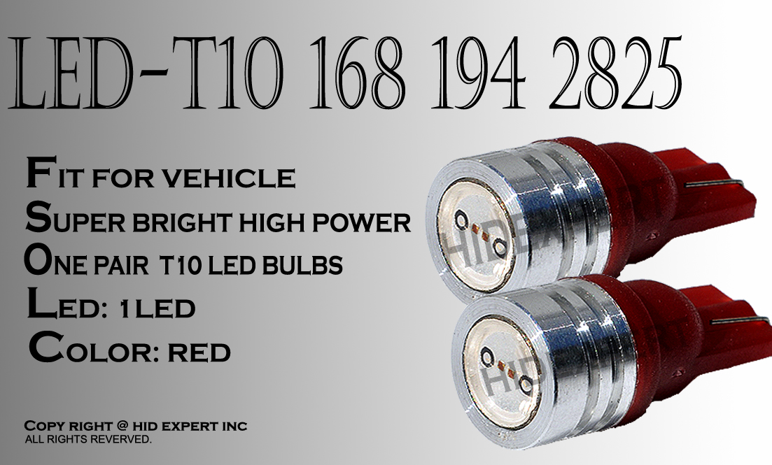 t10%20hp%20red JDM pair T10 high power RED LED BRAKE LAMPS BULBS 193 194 2921 2825 655A5051