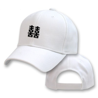 DOUBLE-HAPINESS-JAPANESE-EMBROIDERED-EMBROIDERY-BASEBALL-ADJUSTABLE-HAT-CAP