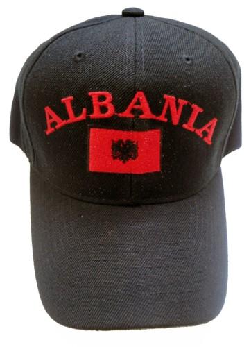 da5f3f075 ALBANIA FLAG HAT ALBANIAN EAGLE SOCCER BLACK HAT CAP on PopScreen
