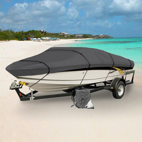 """KapscoMoto Waterproof Trailerable Boat Cover Gray Fits 12' 13' 14' Beam Width 68"""" BC12A-GRY at Sears.com"""