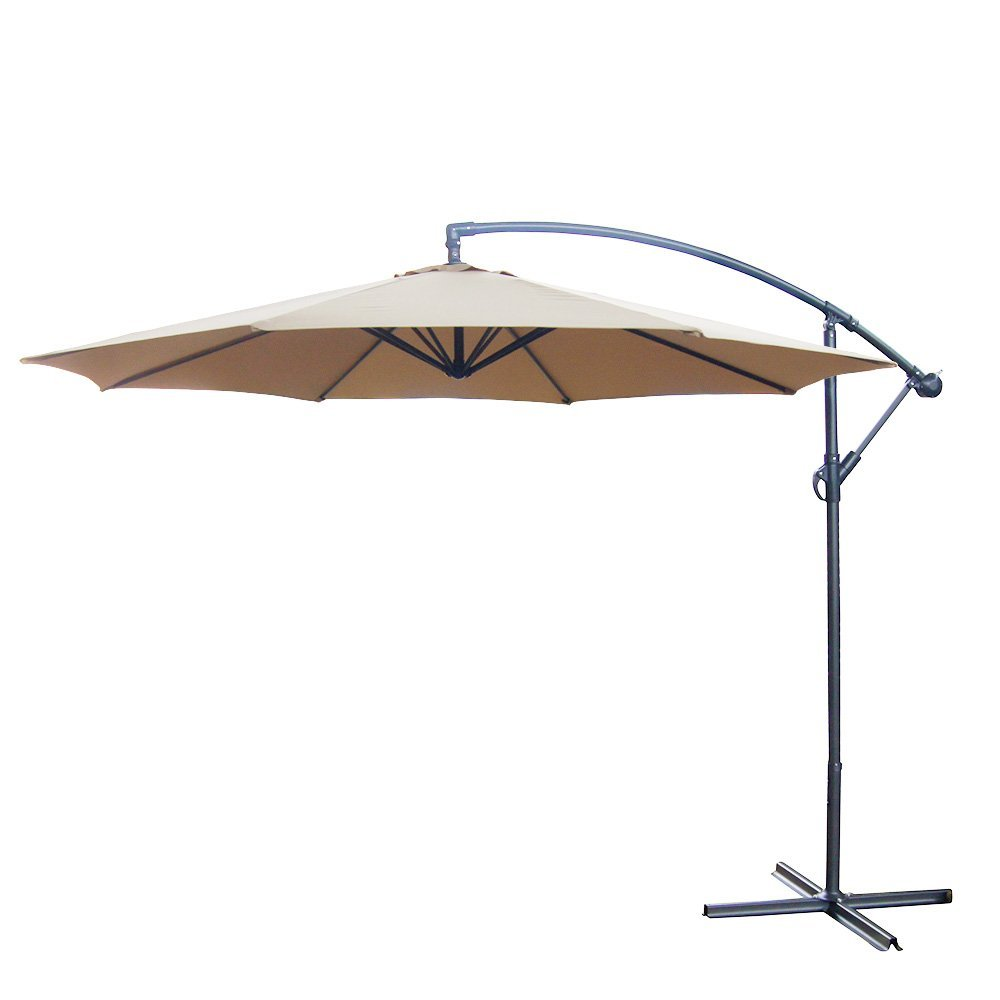 Prime Garden Products Co., LTD 10' FT Offset Backyard Patio Umbrella Tan Polyester Outdoor Aluminum Crank NEW at Sears.com