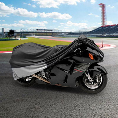 """KapscoMoto Travel Storage Superior Motorcycle Bike Cover Fits Up To 90"""" Length Gray/Silver at Sears.com"""