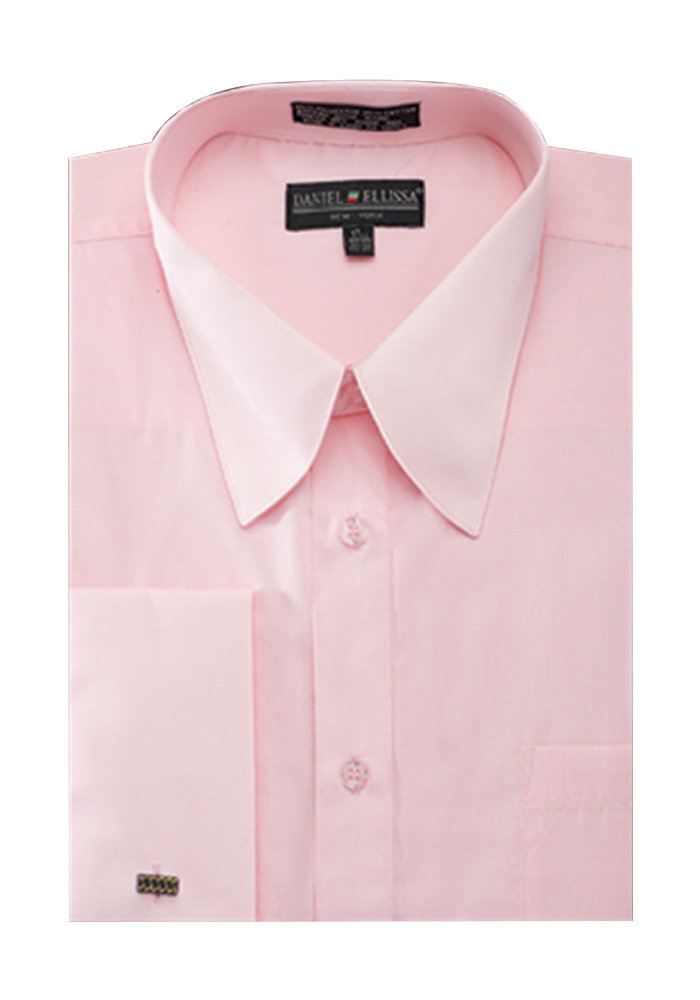 Men 39 s french cuff pat riley collar dress shirt ebay for French collar dress shirt