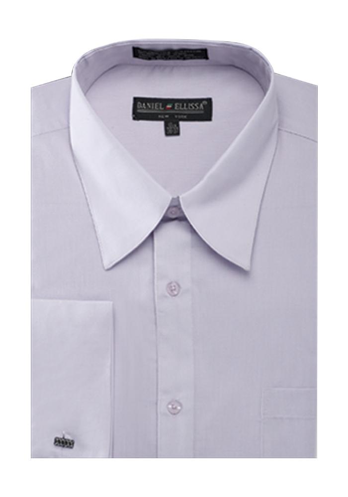 Men 39 s french cuff pat riley collar dress shirt ebay for Big and tall french cuff dress shirts