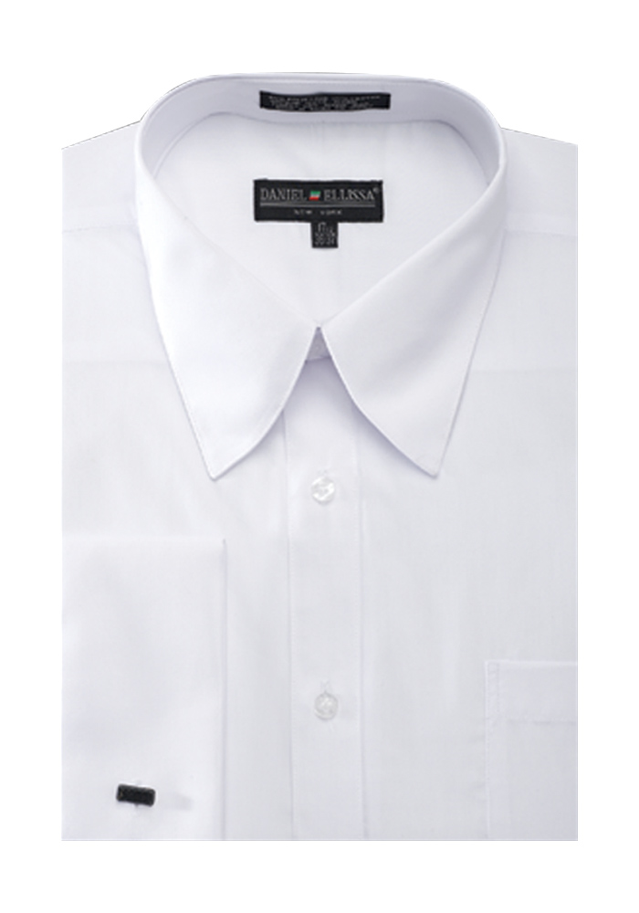 Men 39 s french cuff pat riley collar dress shirt for Men french cuff dress shirts
