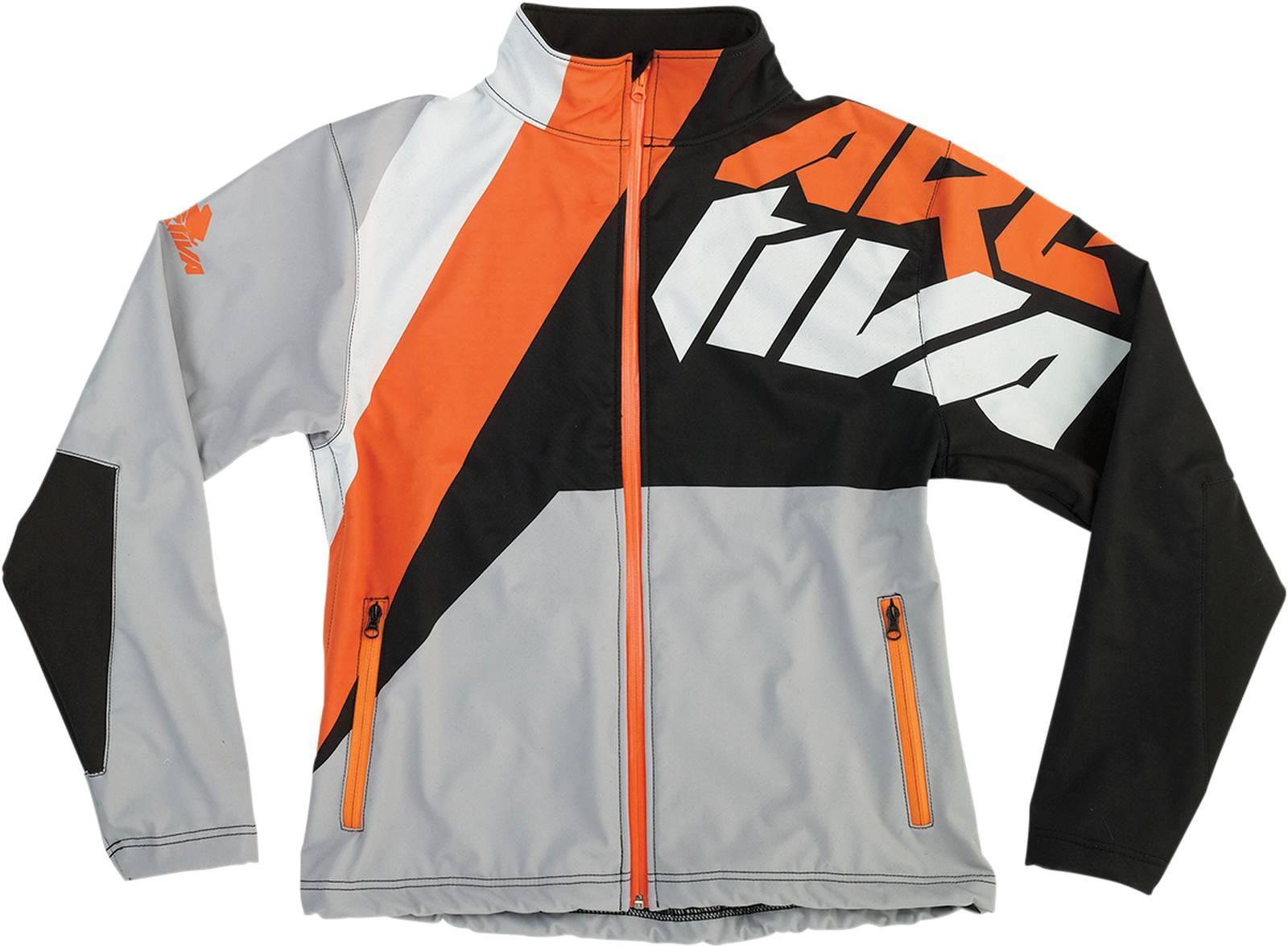 Arctiva Soft-Shell Windproof & Water-Resistant Jacket,Black/Gray/Orange,Small/SM