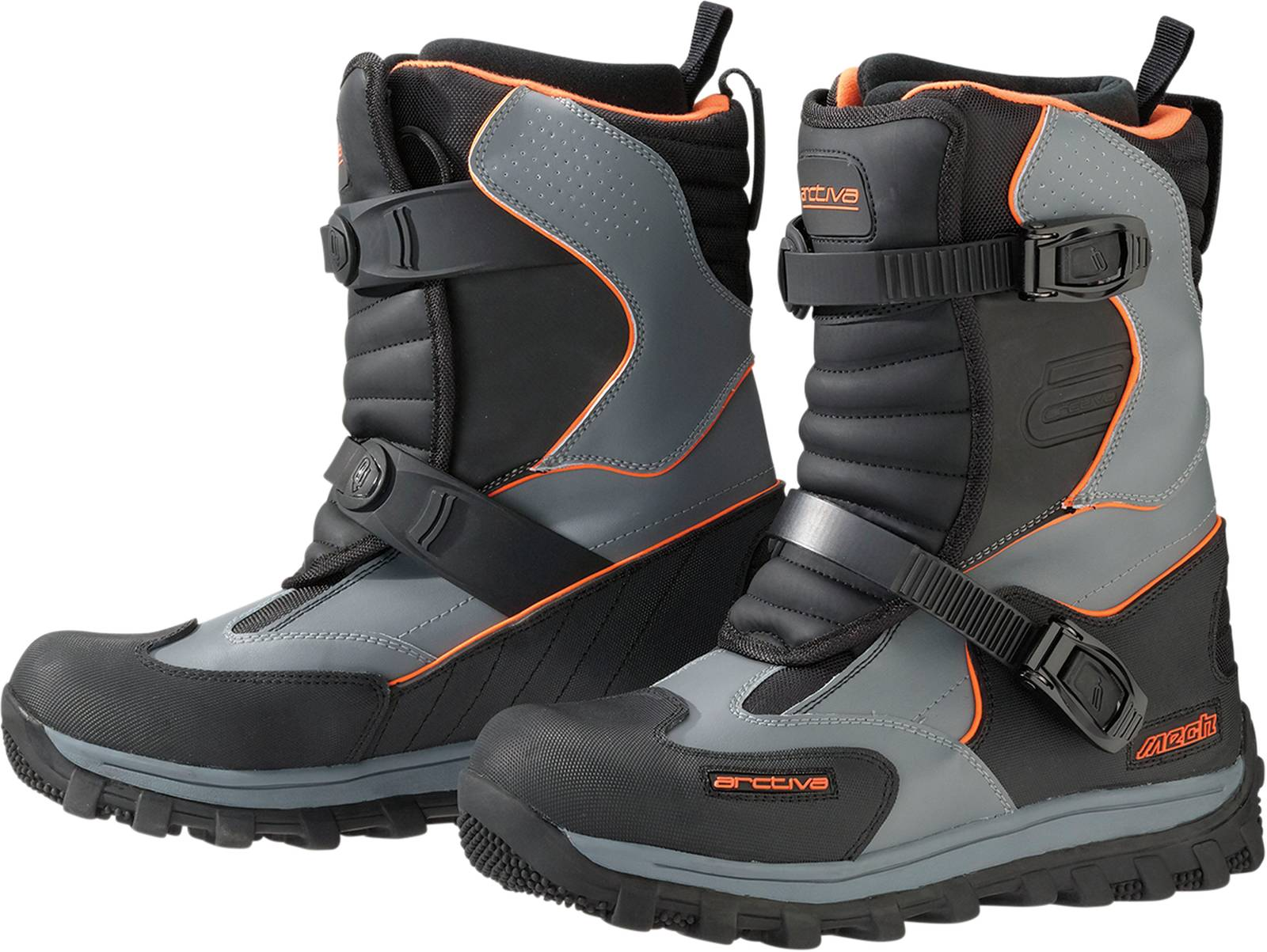 New Arctiva-Snow Mechanized Snowmobile Adult Insulated Boots, Black/Gray, US-9