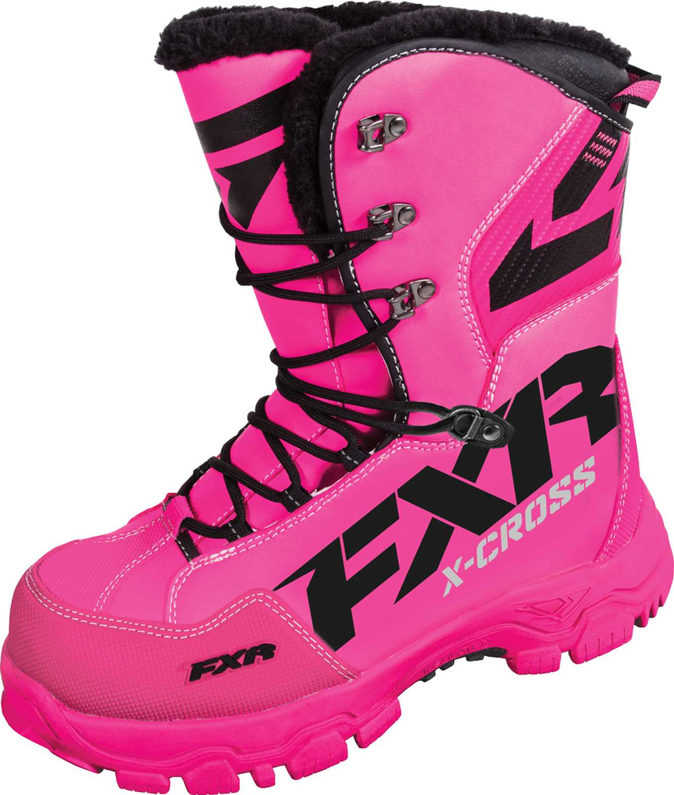 new fxr snow x cross womens insulated boots fuchsia pink