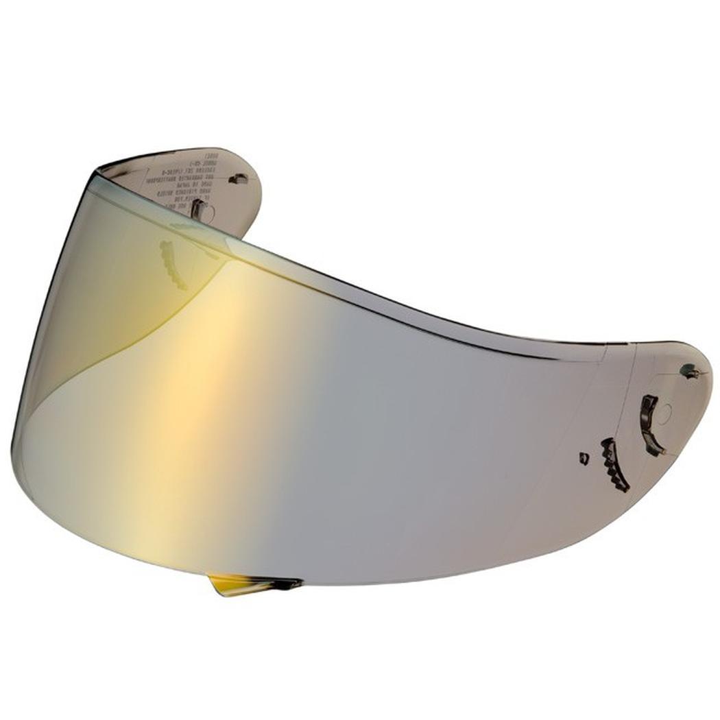 New shoei spectra mirror helmet shield visor gold cwr 1 for Mirror visor