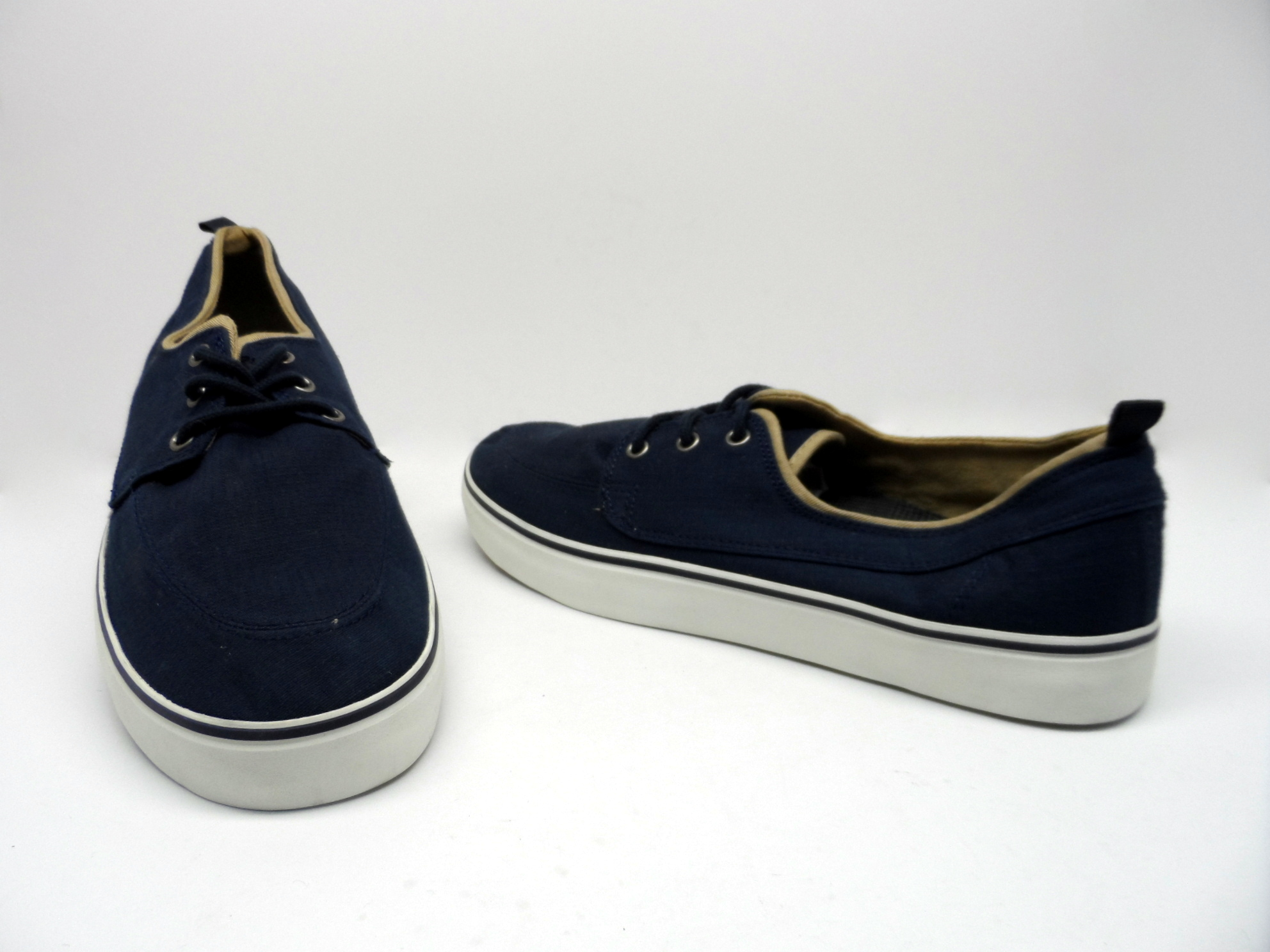 gap s textile casual shoes navy white size 9 nwob ebay