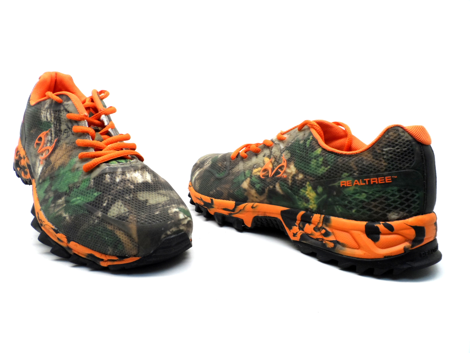 dominion s realtree athletic shoe camo orange size