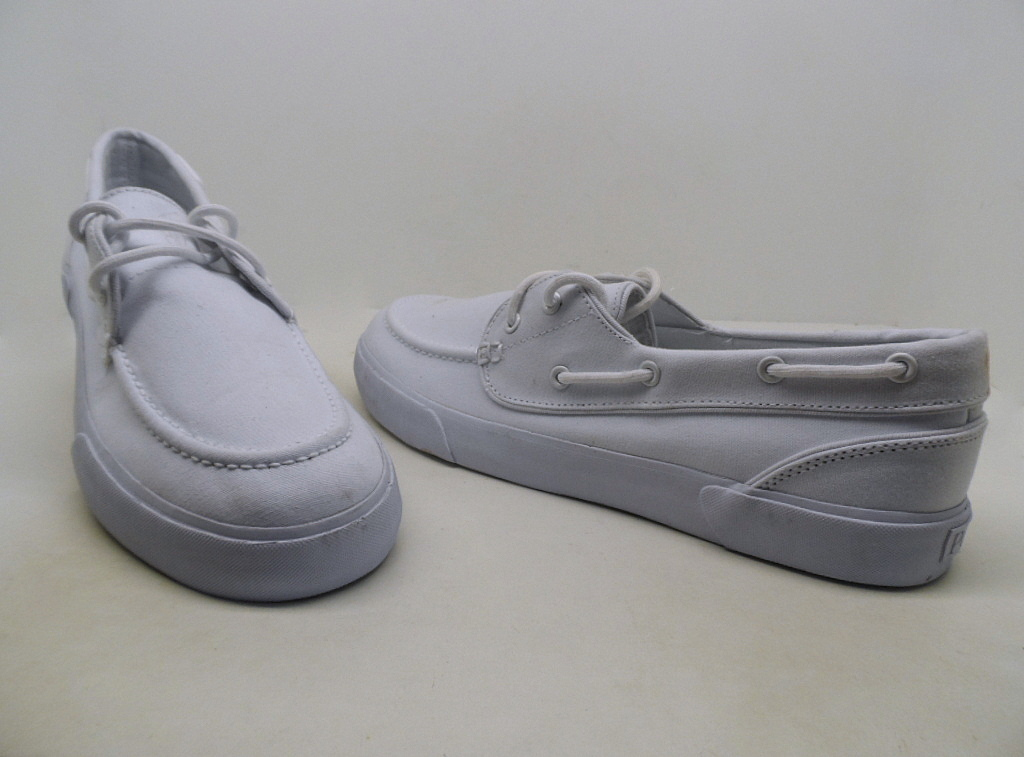 white polo ralph boat shoes