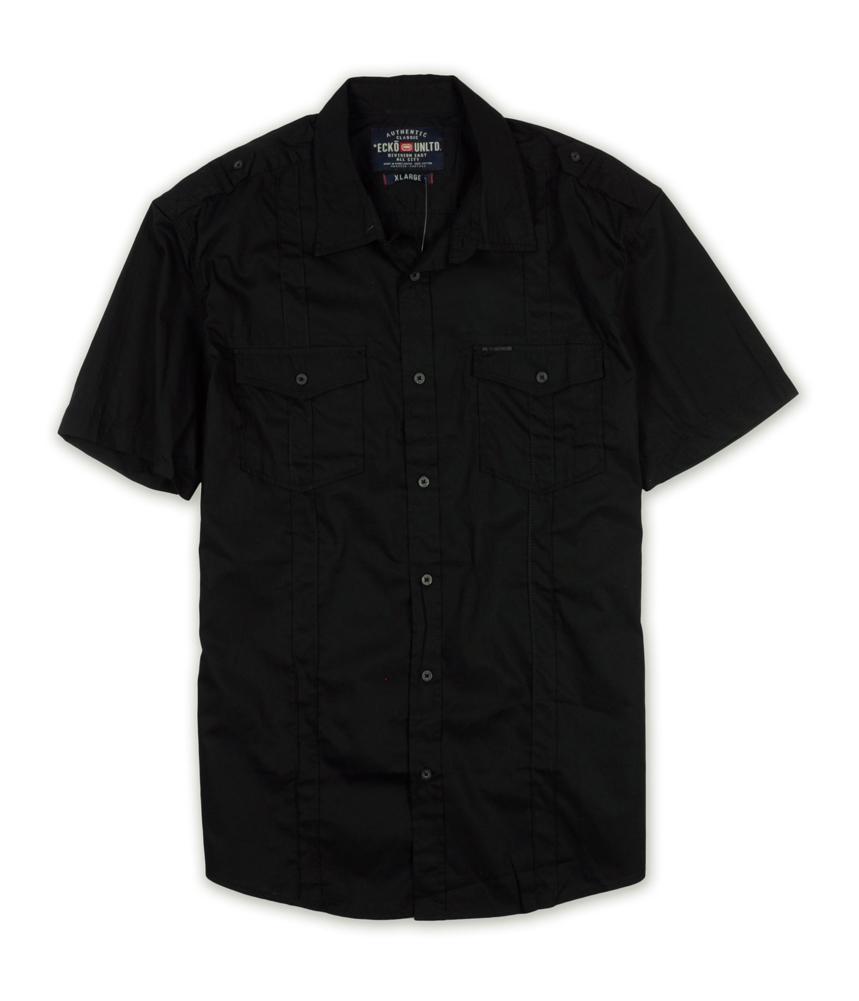 Ecko unltd mens roberts ss woven button up shirt ebay for Guys button up shirts