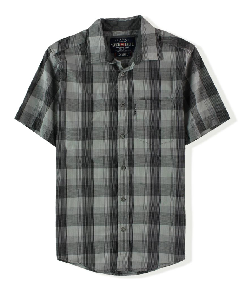 Ecko unltd mens plaid button up shirt for Button up mens shirt