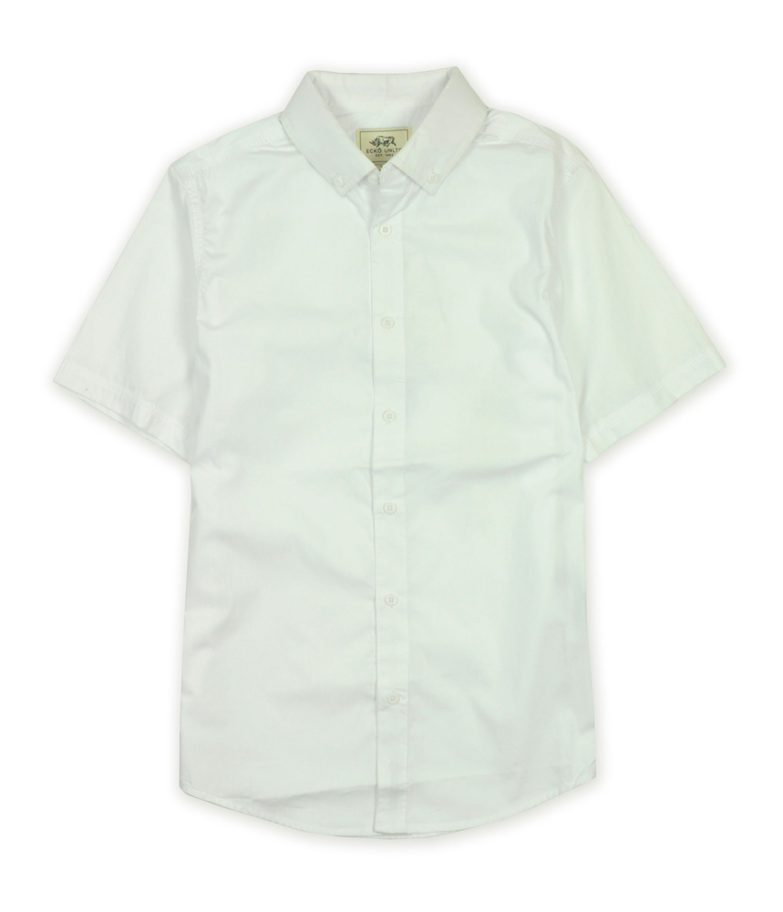 Ecko unltd mens solid color poplin ss button up shirt ebay for Solid color button up shirts