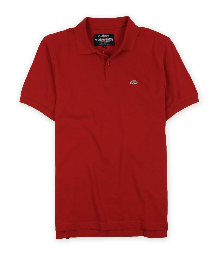 Ecko Unltd Mens Wallburner Solid Color Rugby Polo Shirt