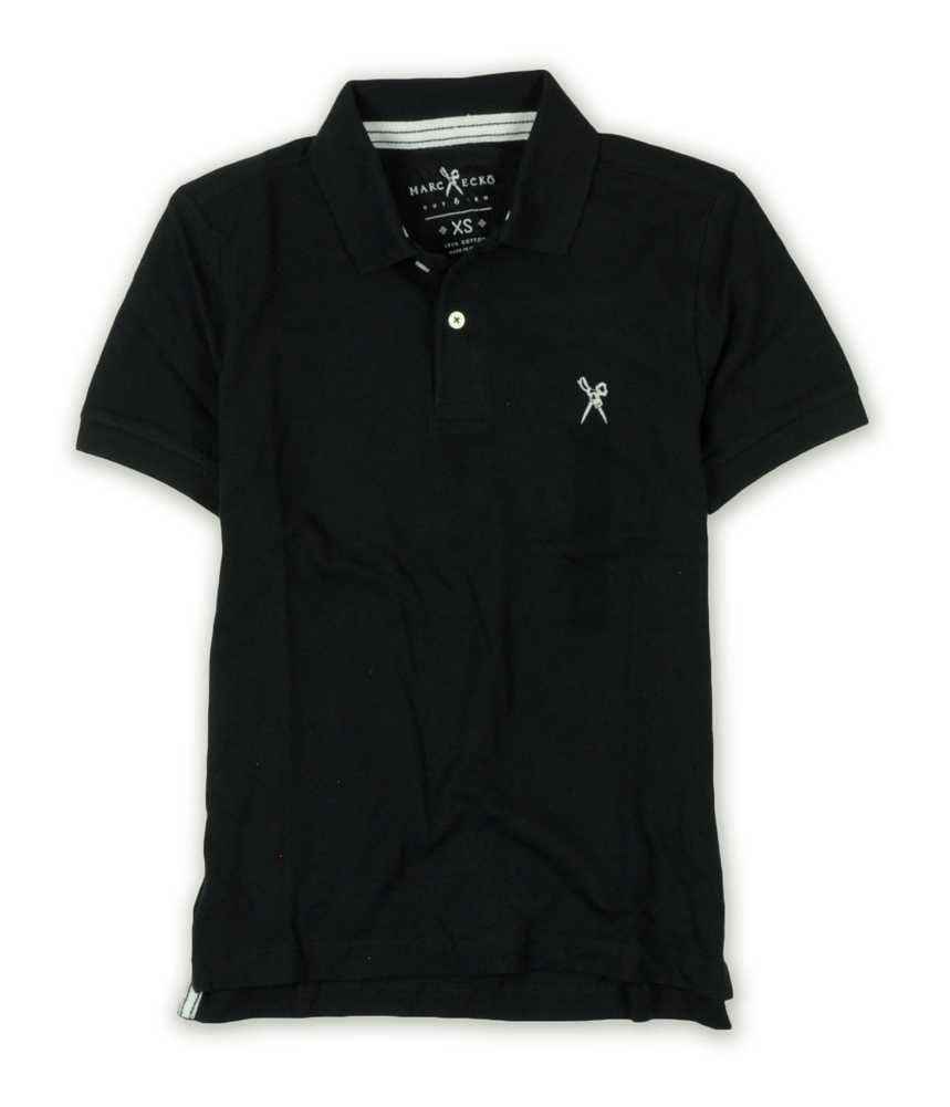 Marc ecko mens embroidered rugby polo shirt black xs ebay for Marc ecko dress shirts