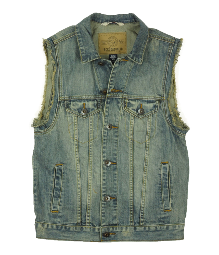 Ecko Unltd. Mens Denim Vest Cut-off Jean Jacket 07295 at Sears.com