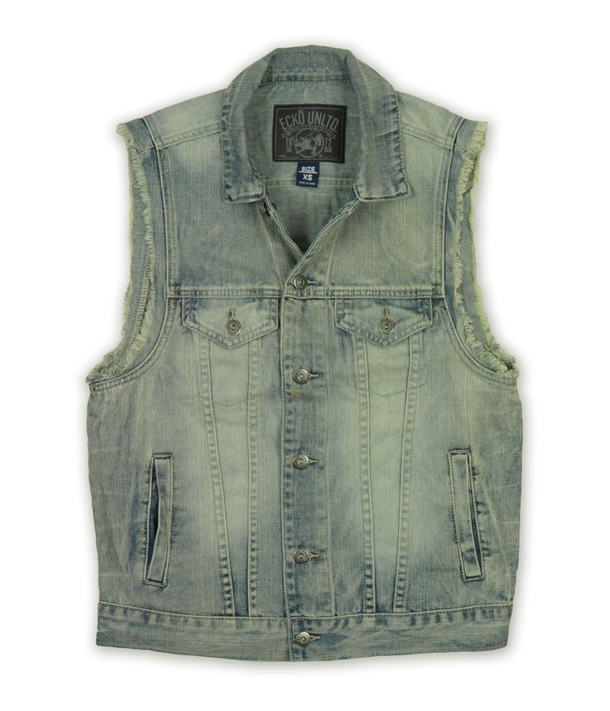Ecko Unltd. Mens Denim Trucker Vest 07317 at Sears.com