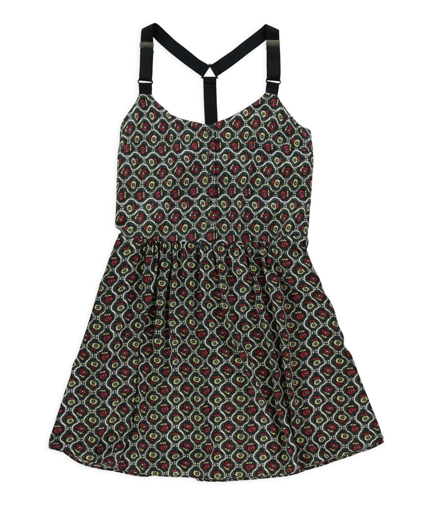 Rachel Roy Womens Sleeveless Floral Strapless Dress