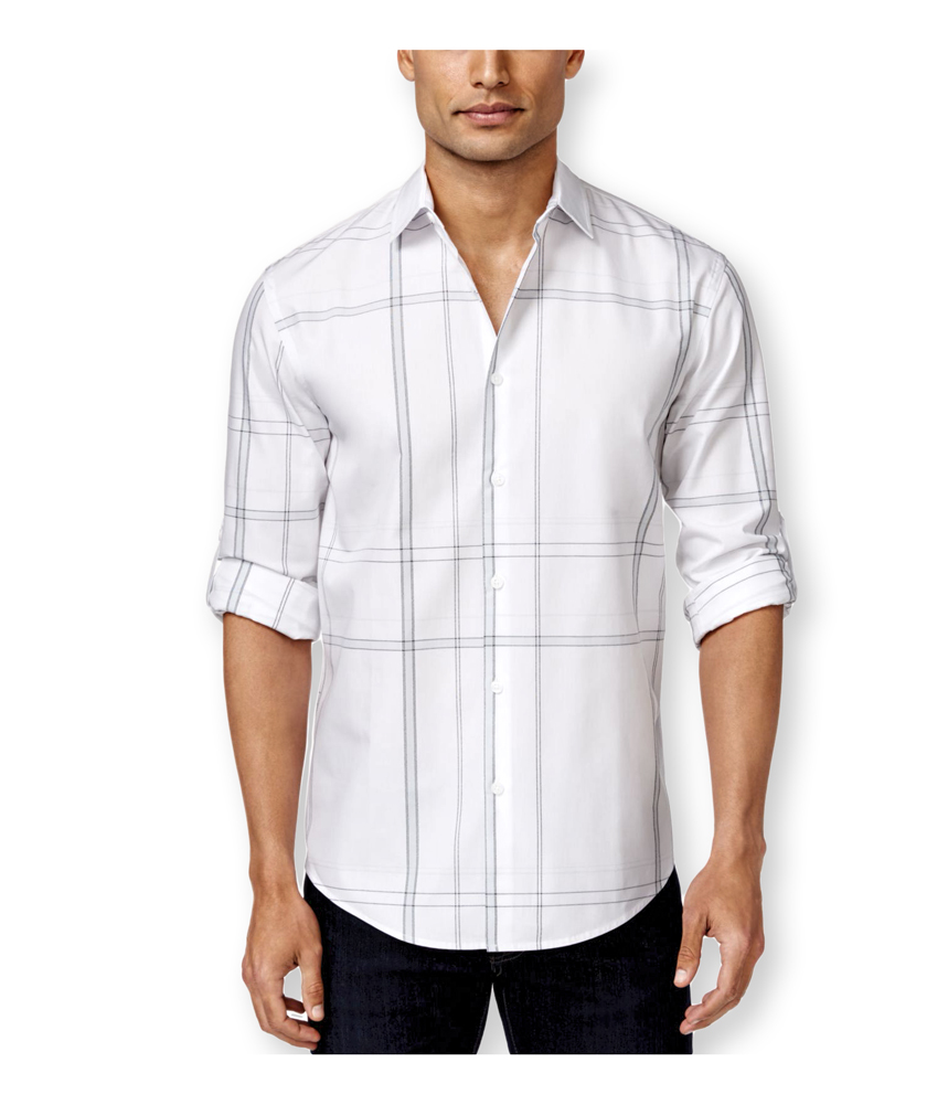 Alfani mens large plaid ls button up shirt mens apparel for Alfani mens shirt size chart