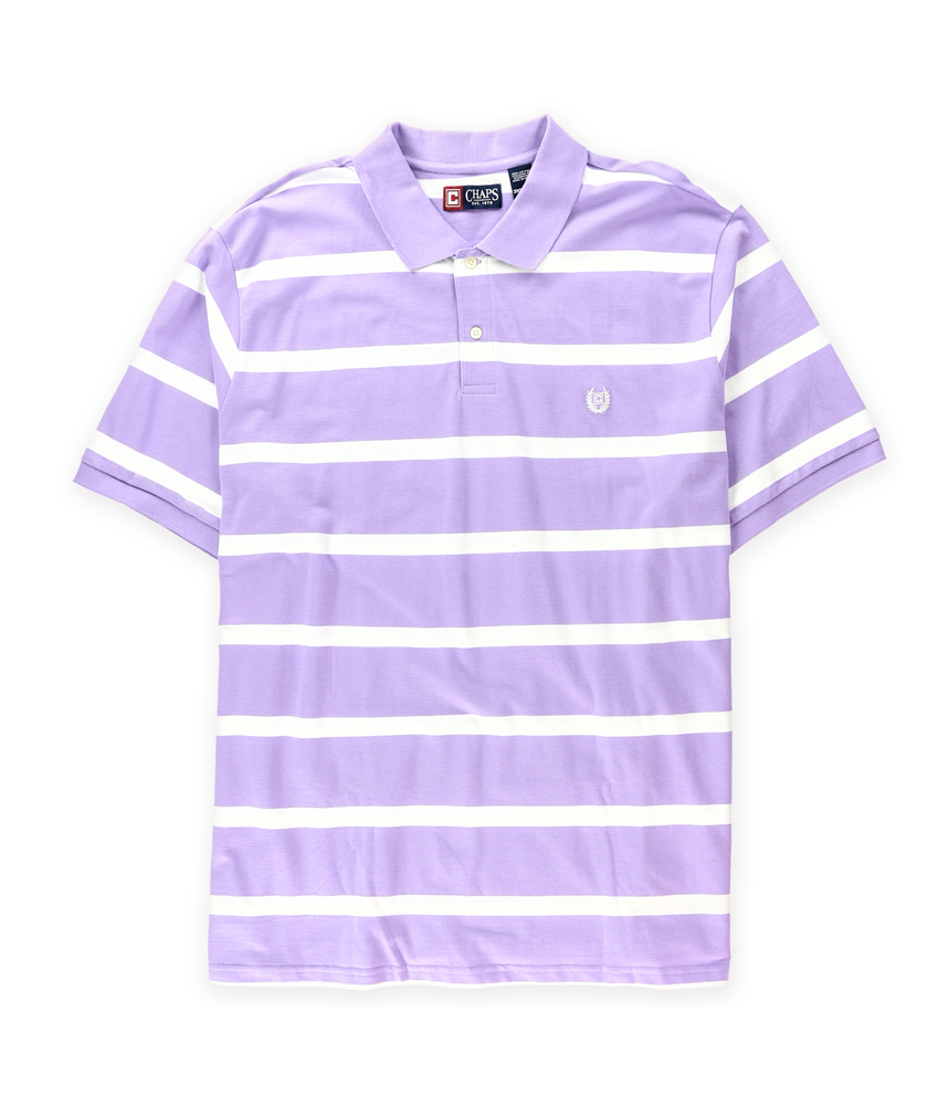 Chaps mens monterey striped rugby polo shirt ebay for Mens 4xlt flannel shirts