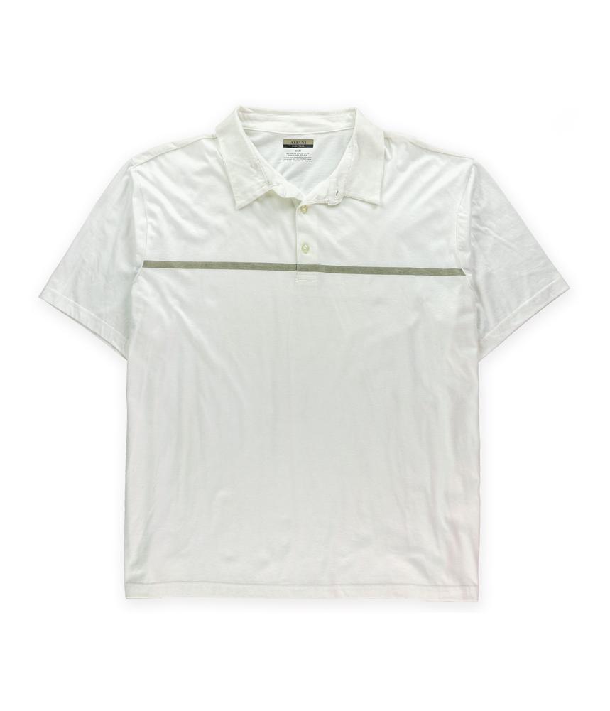 Alfani mens stripe rugby polo shirt mens apparel free for Alfani mens shirt size chart