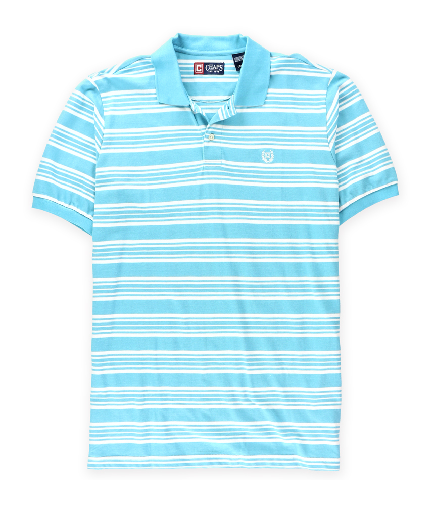 Chaps mens striped logo rugby polo shirt ebay for Chaps mens dress shirts