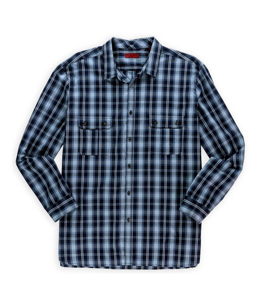 Alfani mens slim plaid button up shirt mens apparel for Alfani mens shirt size chart