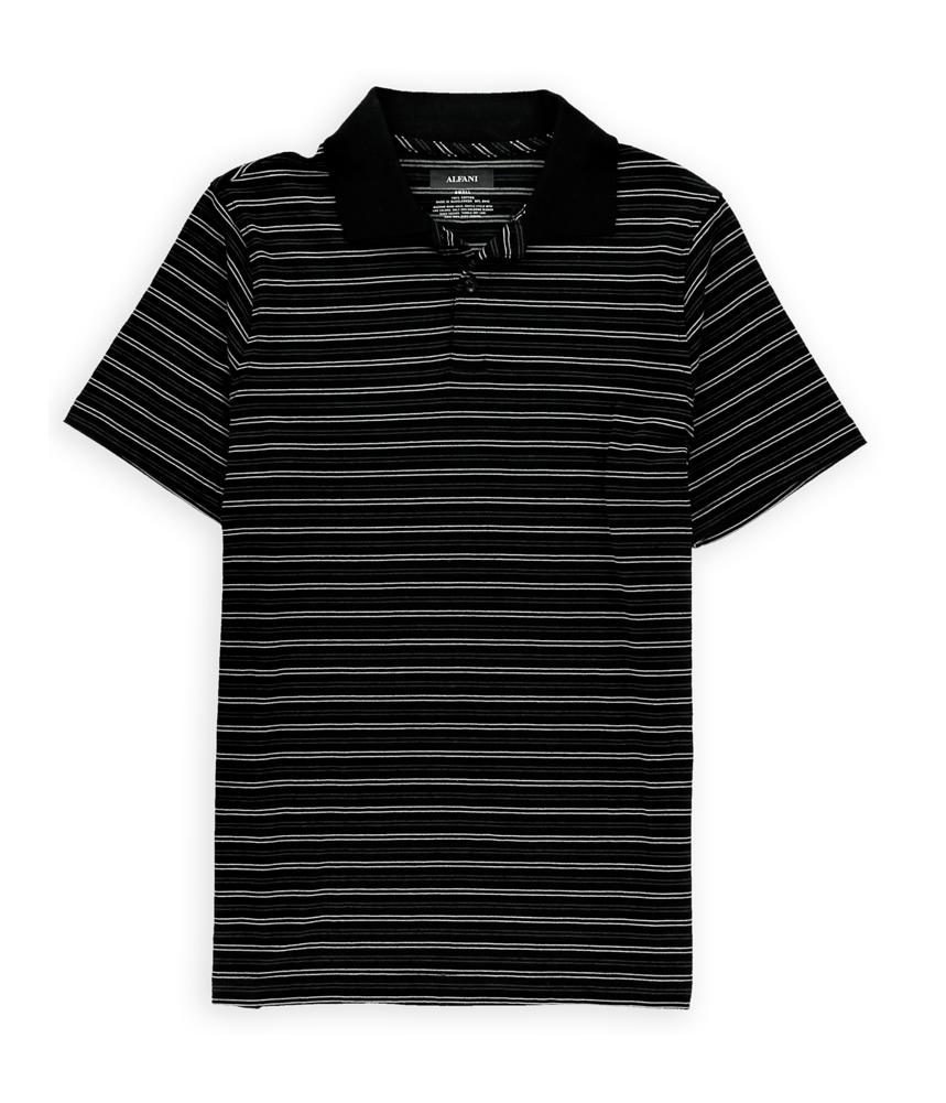 Alfani mens dress stripe rugby polo shirt mens apparel for Alfani mens shirt size chart