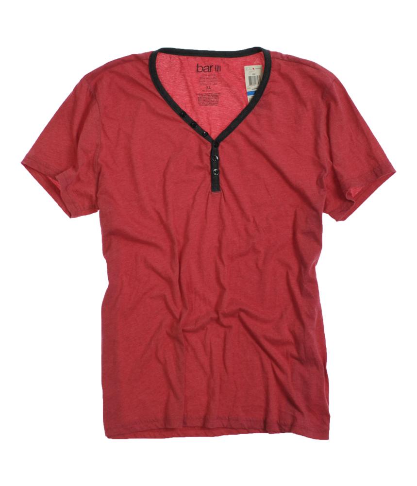 Bar III bar III Mens Solidl Henley Shirt