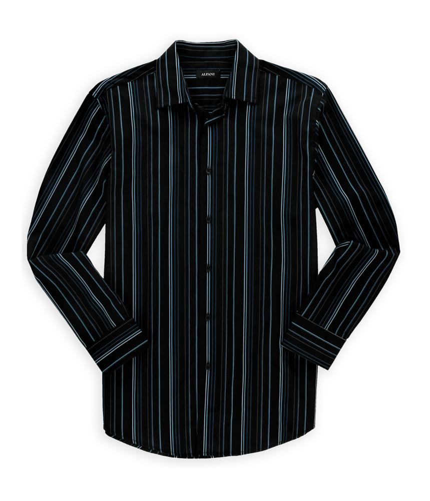 Alfani mens barcode button up shirt mens apparel free for Alfani mens shirt size chart
