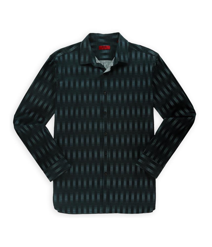 Alfani mens vertical pixel button up shirt mens apparel for Alfani mens shirt size chart