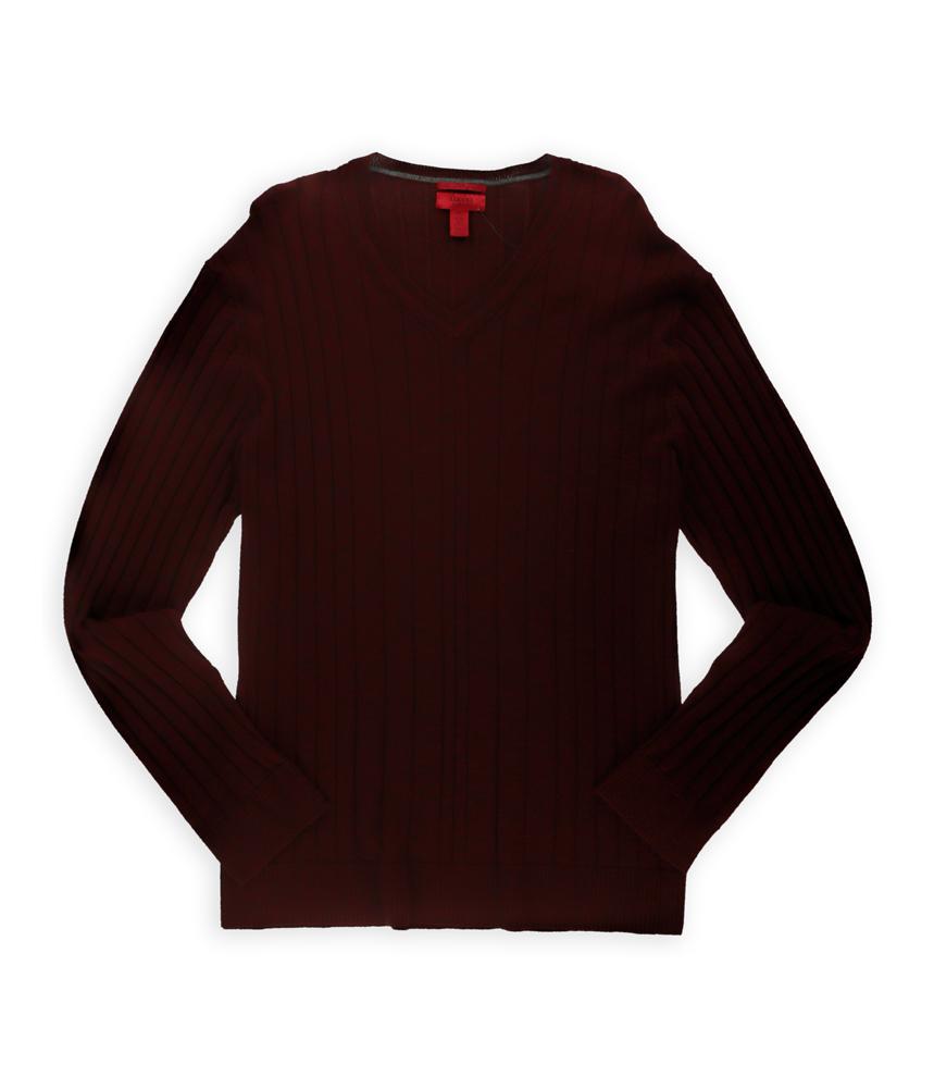Alfani mens slim fit v neck pullover sweater mens for Alfani mens shirt size chart