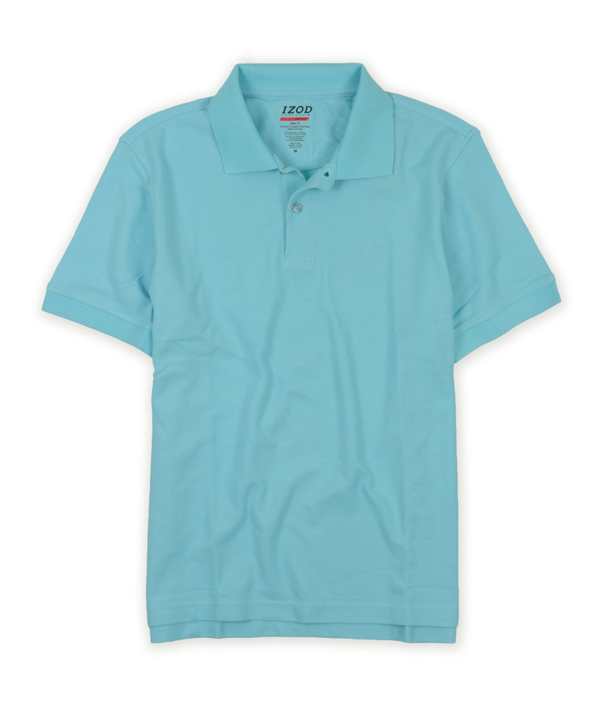 Izod mens athletic basix cool fit rugby polo shirt ebay for Cool mens polo shirts