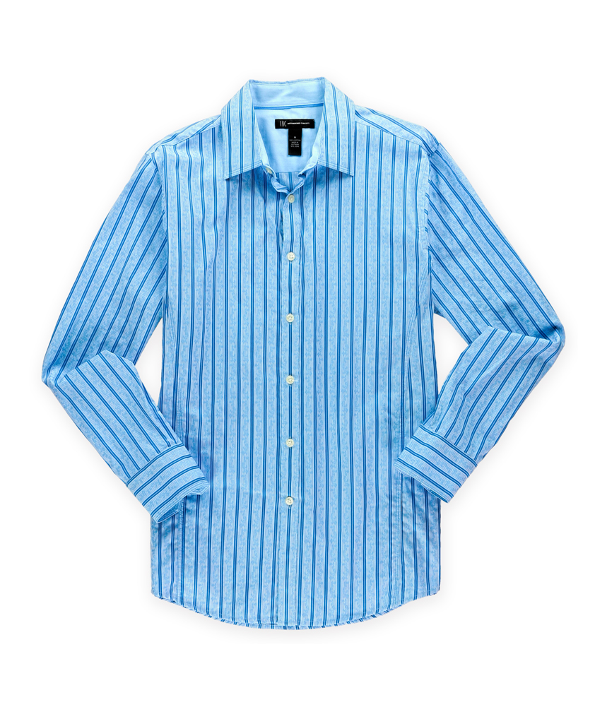 I n c mens comber striped button up shirt mens apparel for Striped button up shirt mens