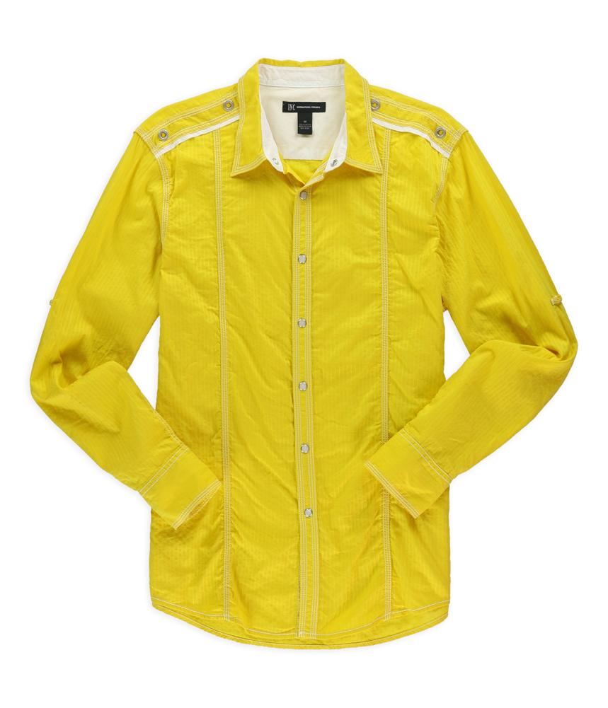 I N C Mens Snap Front Button Up Shirt Ebay