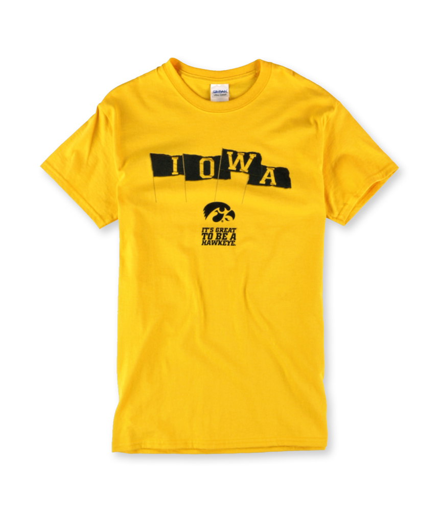 Gildan mens iowa hawkeye game day graphic t shirt mens for Gildan brand t shirt size chart