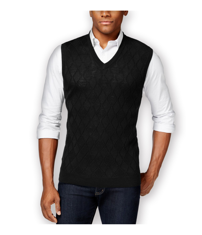 Wool Argyle Sweater Vest 30