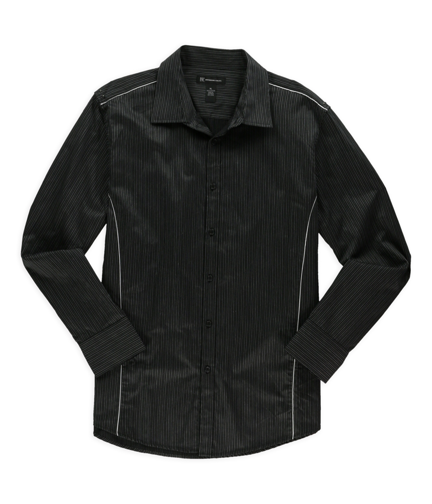 I n c mens vertical stripe button up shirt ebay for Striped button up shirt mens