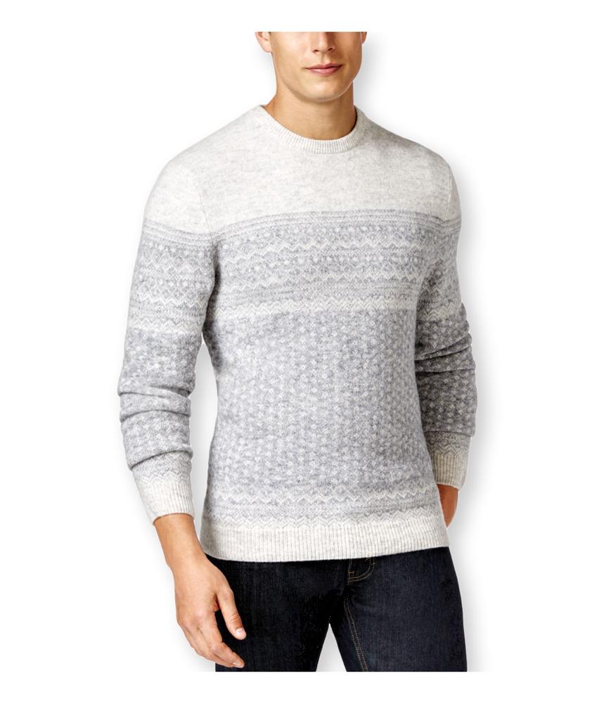 tasso elba mens fair isle crew pullover sweater mens apparel free shipping on all domestic. Black Bedroom Furniture Sets. Home Design Ideas