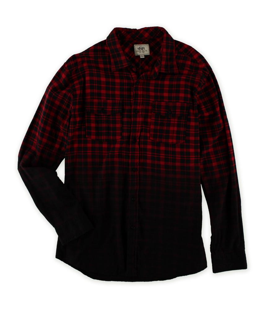 Ecko unltd mens faded light flannel button up shirt ebay for Men s lightweight flannel shirts